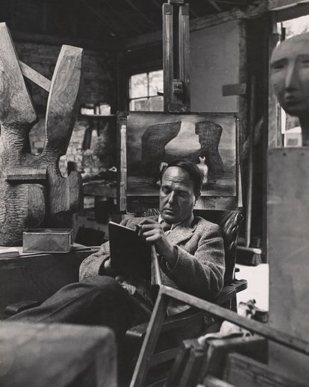 Henry Moore, by Bill Brandt, on display at the Sainsbury Centre for Visual Arts.