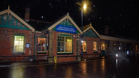 Sheringham Station where the Norfolk Lights Express, a light and music show on the North Norfolk Rai