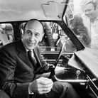 Valery Giscard d'Estaing in his car after voting inthe second round of the 1974 presidential election, which he won
