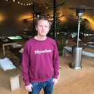 Mysabar winter beer garden has opened in Castle Gardens in Norwich, pictured is one of the organisers Seth Maclot.