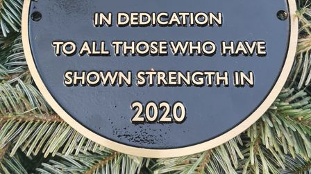A plaque in recognition of all those who showed strength during the coronavirus pandemic has been unveiled atEarlham...
