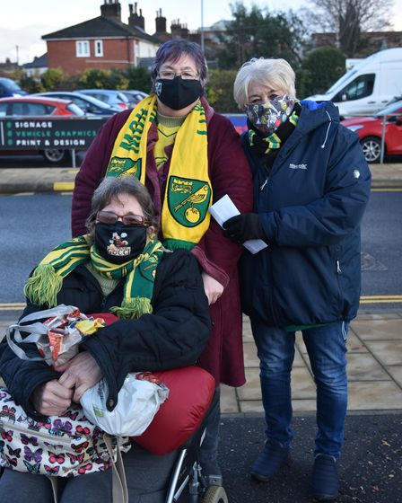 Fans return to Carrow Road for Norwich City's match against Sheffield Wednesday. Linda Medlock, Shir