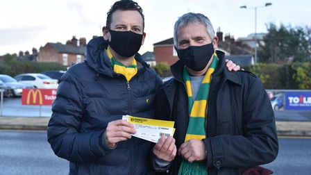 Fans return to Carrow Road for Norwich City's match against Sheffield Wednesday. Simon Jackson, Tony