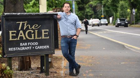 James Linder, who runs The Eagle pub on Newmarket Road in Norwich.