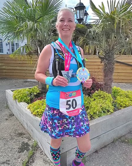 St Neots' Kerry Surkitt smashes charity challenge to run 50 marathons by the age of 50 in memory of friend Bev. Picture...