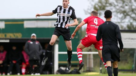 Harry Shepherd scored Colney Heath's equaliser against Dunstable Town. Picture: DANNY LOO