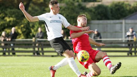 Brandon Adams got both goals for Royston Town in their FA Cup win over Stamford. Picture: KARYN HADDON