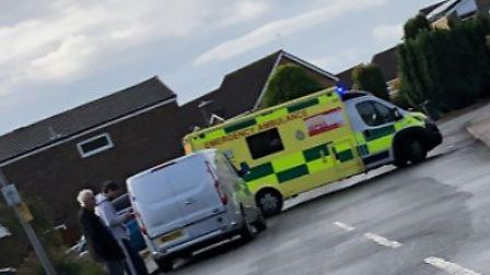 Paramedics and police both attended the scene in Sandown Road, Stevenage. Picture: Gary Sanderson