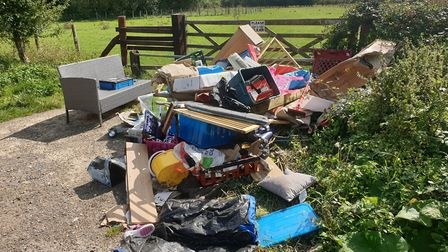 Dumped household waste has been dealt with in the Duxford area by South Cambs District Council. Picture: SCDC