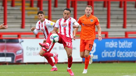 Elliot List went closest for Stevenage at Mansfield Town. Picture: DANNY LOO