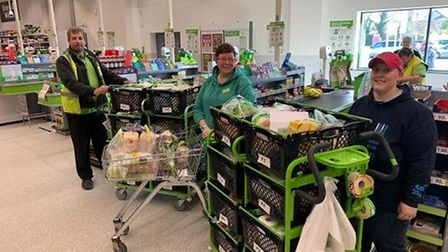 Geoff Norris (right) is a driver for Asda in Wisbech but has been helping vulnerable and elderly customers by doing their...