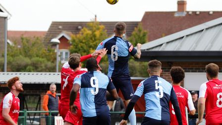 St Neots Town recorded a sensational 8-0 win at home to Didcot Town in the Southern League. Picture: DAVID RICHARDSON/RICH...
