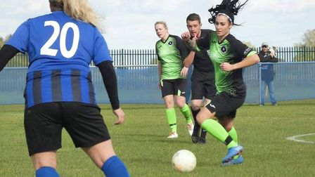 Leverington Ladies suffered a heavy defeat at the hands of Whittlesey Athletic Ladies. Here, Chloe Stanborough in action for ...