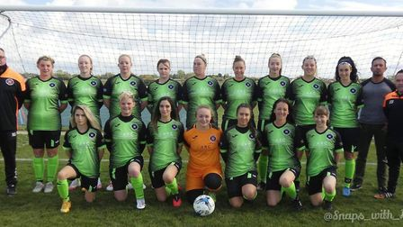 Leverington Ladies ahead of their league match with Whittlesey Athletic Ladies. Picture: NARICE BRITTON