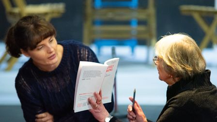 Rehearsals for Alan Ayckbourn's Relatively Speaking at the Abbey Theatre in St Albans. Picture: Anne Frizell