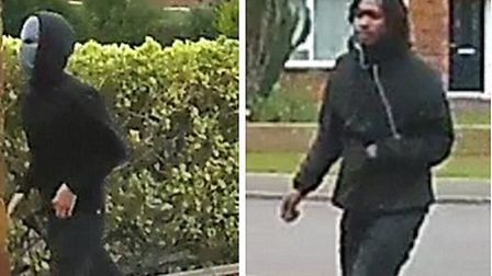 Police have released images of these two men they would like to identify as part of their enquiries into a Hitchin burglary.