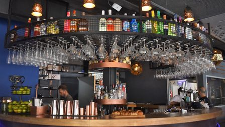 The bar at Angelique serves a wide range of spirits, wines and beers. Photo: Angelique
