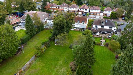 The south-facing rear garden measures just over 200ft. Picture: Bradford & Howley