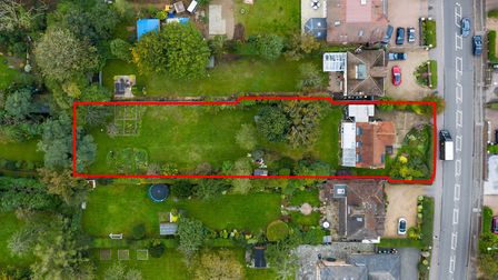 The property occupies a substantial 0.38 acre plot. Picture: Bradford & Howley