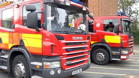 Cambs firefighters tackled a blaze in a Barrington field at the weekend. Picture: Helen Drake