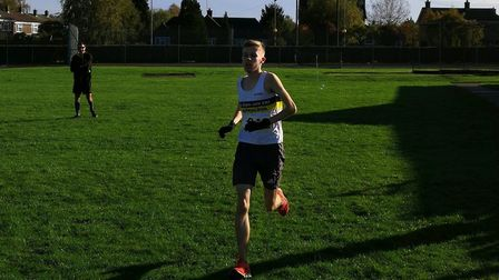 Alex Mitton of Huntingdon based BRJ Run & Tri in action at the club's own race