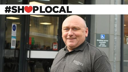 Andy Maul at Bygones Cafe in Hill Street, Wisbech, is backing the shop local campaign. Pictures: Ian Carter