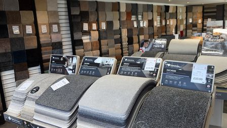 Inside Oakwood Carpets and Flooring at Bambers Leisure near Wisbech. Pictures: Ian Carter