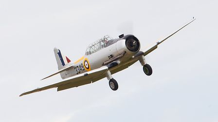 A Yale in flight at an earlier IWM Duxford showcase day. Picture: Gerry Weatherhead