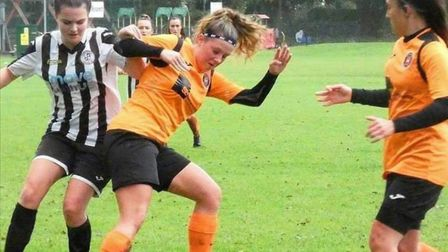 Leverington Ladies slipped to a first league defeat of the season at home to St Ives Town Ladies Development. Here, Amy...