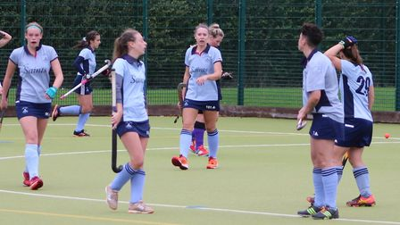 St Neots Hockey Club's ladies lost 3-2 to Cambridge South. Picture: HELEN ROWLAND