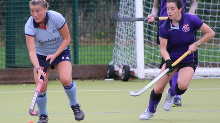 Emma Cody in action for St Neots Hockey Club. Picture: HELEN ROWLAND