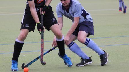 Alex Bird made his debut for St Neots Hockey Club playing for the seconds against Leadenham. Picture: HELEN ROWLAND