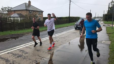 Dexter Wright ran a marathon around our South Cambs villages in memory of his best friend Hayden Prince. Picture: Supplied
