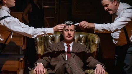 A cast of four actors played all 40 parts in the production of The 39 Steps, which can be seen at the Maltings Theatre in...