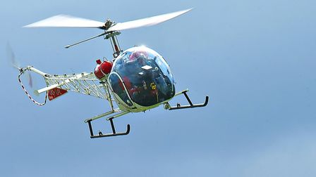 A Bell 47G displaying at the IWM Duxford Showcase Day on Saturday, October 10. Picture: Gerry Weatherhead