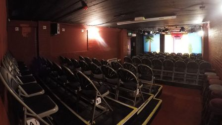 Inside The Market Theatre in Hitchin which has launched a survival appeal through JustGiving after missing out on a...
