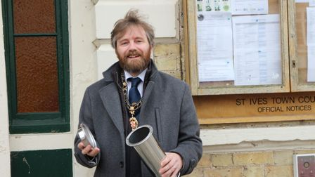 Time capsule project launched by St Ives' mayor, Cllr Jonathan Pallant.