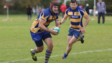 Fraser Morris was one of the try-scorers for St Albans in their win over Slough. Picture: DANNY LOO