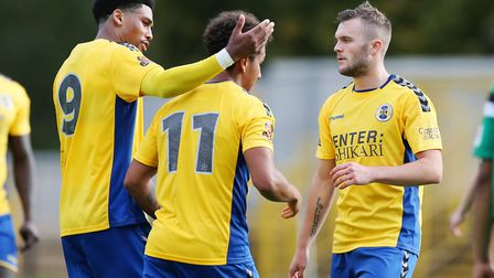 St Albans City have beaten Hitchin Town and Mickleover to reach the fourth qualifying round of the FA Cup. Picture: DANNY LOO