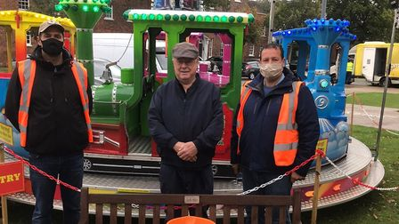 Running the Baldock Charter Fair has gone down the generations of Charles and Cy's family. Picture: Courtesy of Charles...