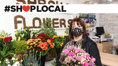 Sarah Street at Sarah's Flowers in Market Street, Wisbech, is backing the Wisbech Standard Shop Local campaign. Picutres...