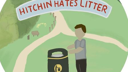 The Comet's #HitchinHatesLitter anti-littering campaign. Picture: Archant