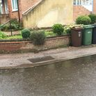 Drainage problems along Hyde Close, Harpenden pose a flood threat every time it rains. Picture: Martyn and Carol Hedges