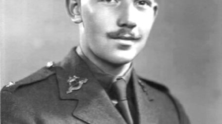 Captain Sir Tom Moore as a second lieutenant, c. 1941. Picture: The Captain Tom Foundation
