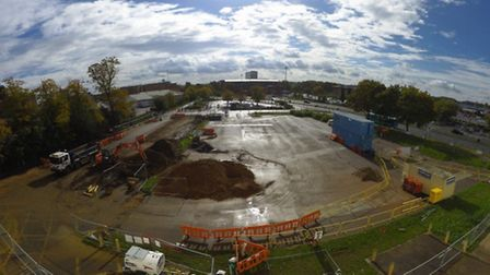 Construction works have started on the new Stevenage bus interchange, located on the car park next to Stevenage Arts and...