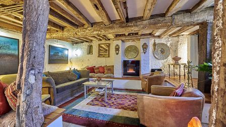 The sitting room is on the lower ground floor. Picture: Frosts's