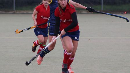 Charlie Churms in action for St Neots Hockey Club. Picture: CHRIS FAULKONER