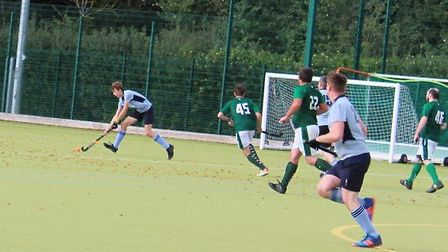 Sam Evans scored for St Neots Hockey Club's first teams against Long Sutton Picture: HARRY PYBUS