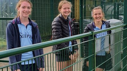 All smiles for the ladies of St Neots Hockey Club's second team after victory at home. Picture:ALEC PYBUS