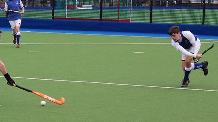 Willem Zwetsloot in action for St Neots Hockey Club seconds against Cambridge Nomads. Picture: MIKE HORNBY
